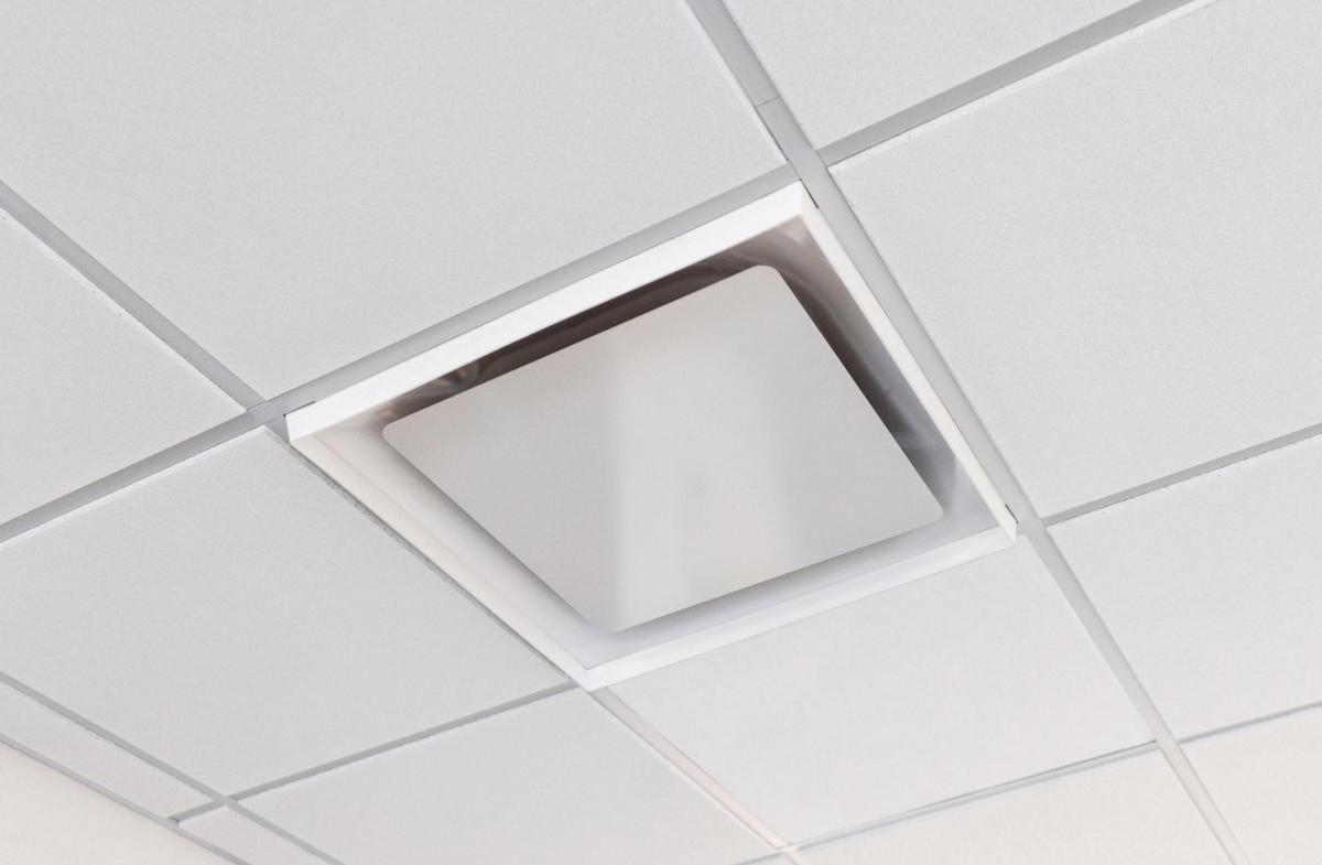 Nova Ceilings Dust Deflector applied to Ceiling Tile